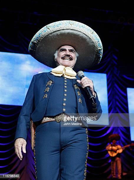 Latino legend Vicente Fernandez performs at HP Pavilion on November 28 2008 in San Jose California