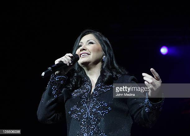 Latino singer Ana Gabriel performs at HP Pavilion on September 17 2011 in San Jose California