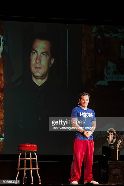 LatinoAmerican comedian actor John Leguizamo performs his oneman show 'Ghetto Klown' in a free performance at Central Park SummerStage New York New...