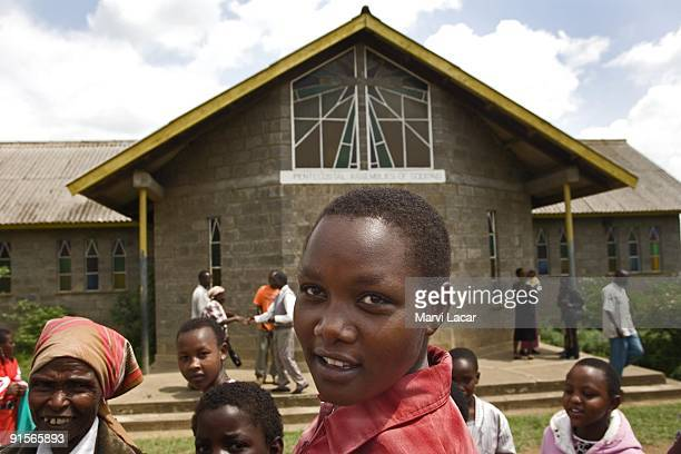 Lato Caroline Gilisho walks home from church December 24 2006 in Narok Kenya The Tasaru Safehouse for Girls supports board lodging and education of...