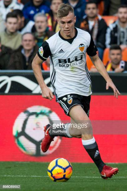 Lato during the match between Valencia CF against Villarreal CF week 17 of La Liga 2017/18 at Mestalla stadium Valencia SPAIN 17th December of 2017