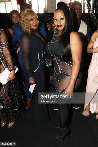 LaTocha Scott and Tamika Scott backstage during the 2017 BET Awards at Microsoft Theater on June 25 2017 in Los Angeles California