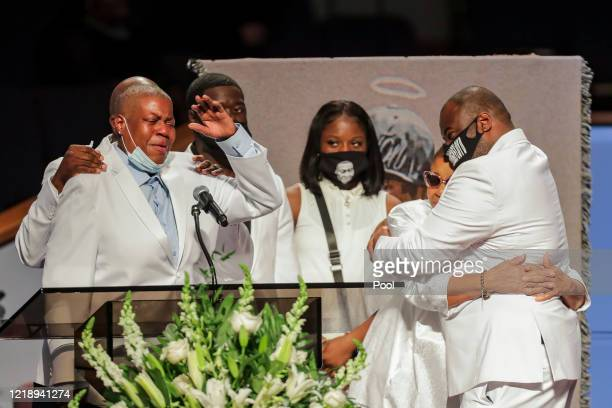 LaTonya Floyd speaks during the funeral for her brother George Floyd at The Fountain of Praise church on June 9 2020 in Houston Texas Floyd died...
