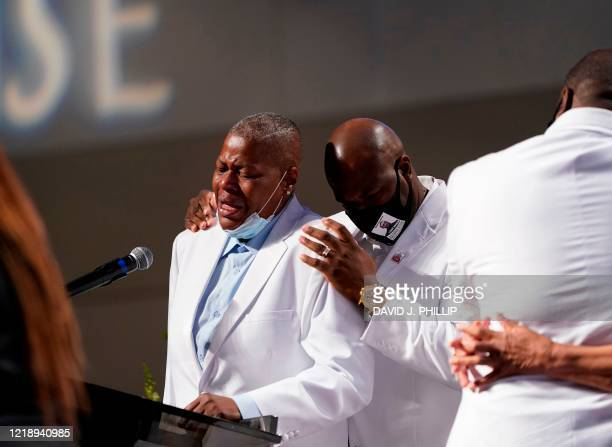 LaTonya Floyd speaks during the funeral service for her brother George Floyd at The Fountain of Praise church on June 9 in Houston George Floyd will...
