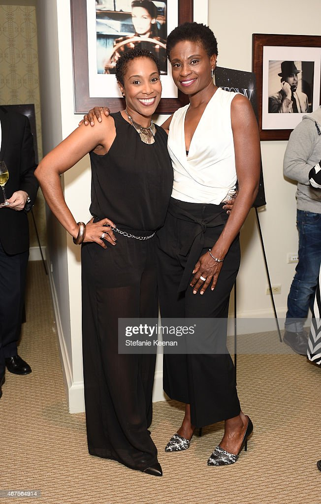 LaTonya Holmes (L) and actress Adina Porter attends The Tony Awards celebration of Broadway in Hollywood at Sunset Towers on March 25, 2015 in West Hollywood, California.