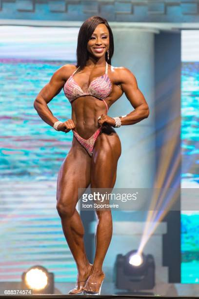 Latorya Watts competes in Figure International as part of the Arnold Sports Festival on March 3 at the Greater Columbus Convention Center in Columbus...