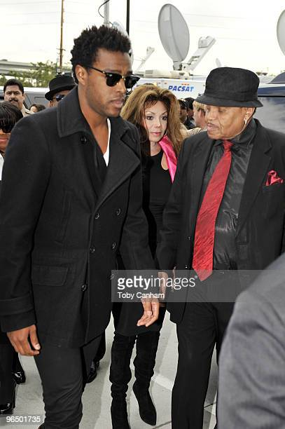 LaToya Jackson and Joe Jackson sister and father of Michael Jackson arrive at the Airport Courthouse for the arraingment of Dr Conrad Murray on...