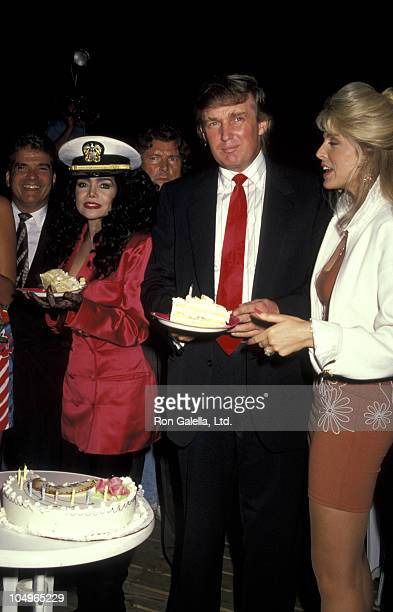 LaToya Jackson Donald Trump and Marla Maples during Kim Hunter's Birthday Party at Amazon Village in New York City New York United States