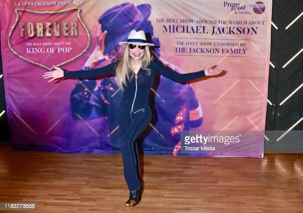 LaToya Jackson during the Forever King Of Pop press conference at Verti Music Hall on November 18 2019 in Berlin Germany