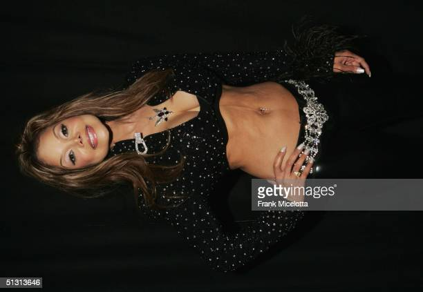 LaToya Jackson poses for a picture backstage during the 2004 World Music Awards at the Thomas and Mack Center on September 15 2004 in Las Vegas Nevada
