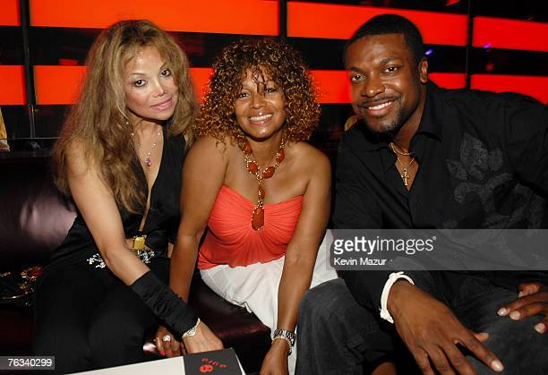 LaToya Jackson, Rebbie Jackson and Chris Tucker at Aura