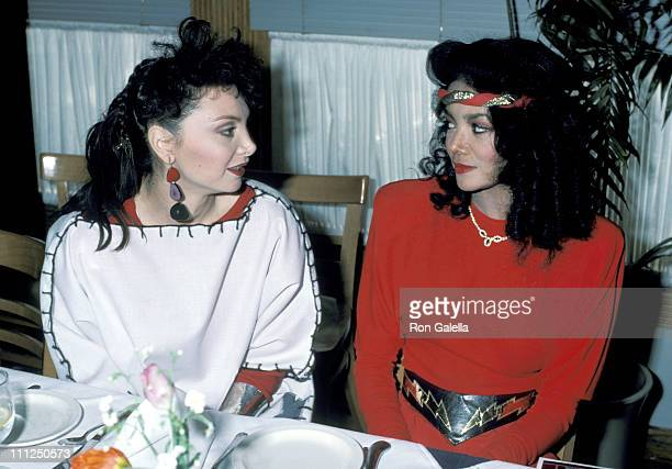 Latoya Jackson Toni Basil during 2nd Annual American Video Awards Nominees Announcement at Kathy Gallagher's Restaurant in Los Angeles California...