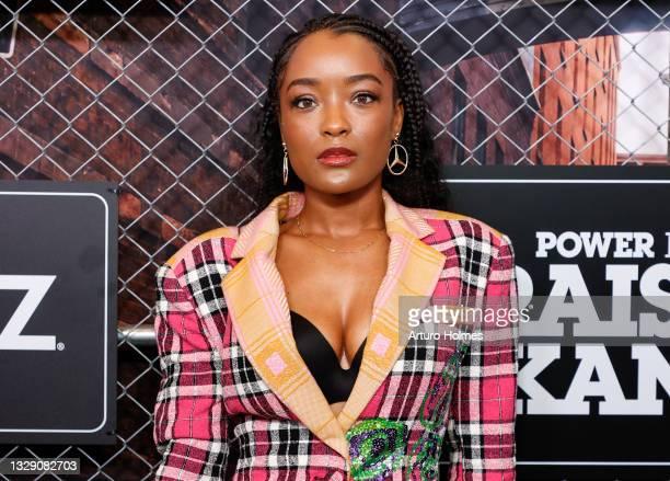 "LaToya Tonodeo attends the ""Power Book lll: Raising Kanan"" New York Premiere at Hammerstein Ballroom on July 15, 2021 in New York City."