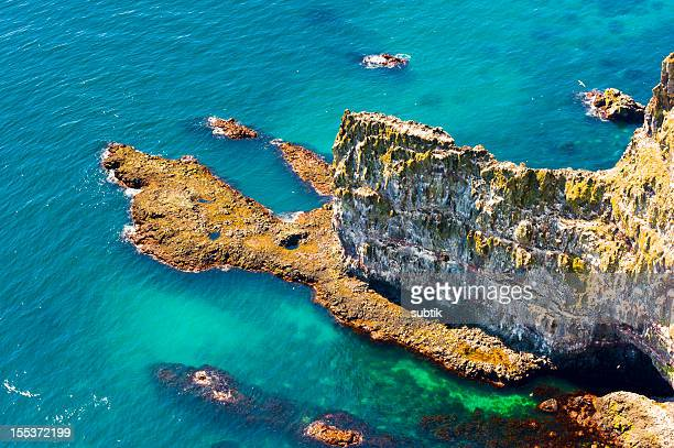 latrabjarg bird cliffs, iceland - westfjords iceland stock photos and pictures