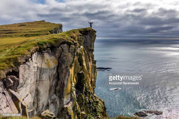 latrabjarg landscape - cliff stock pictures, royalty-free photos & images