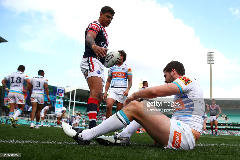 NRL Rd 20 - Roosters v Titans : News Photo