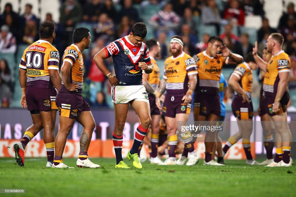 NRL Rd 24 - Roosters v Broncos : News Photo