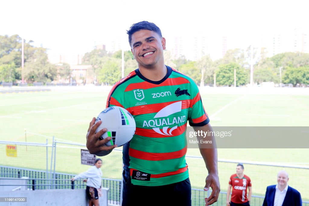 Latrell Mitchell Signs With The South Sydney Rabbitohs : News Photo