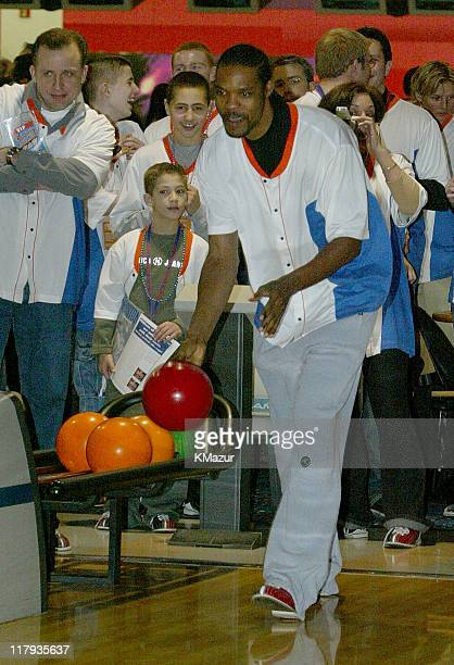 Latrell Sprewell during Knicks Bowl 3 at Chelsea Piers in New York City New York United States