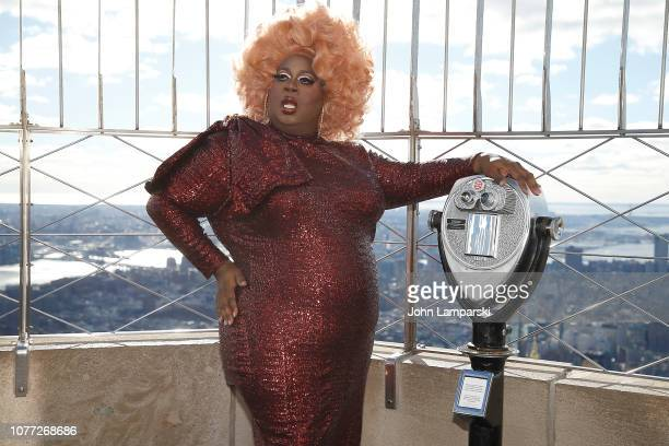Latrice Royale from the cast of RuPaul's Drag Race All Stars visits the Empire State Building Hosts Cast Of RuPaul's Drag Race All Stars at The...
