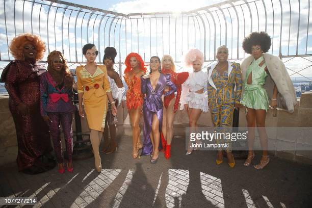 Latrice Royale Monique Heart Manila Luzon Valentina Farrah Moan Gia Gunn Monet X change Jasmine Masters and Naomi Smalls from the cast of RuPaul's...