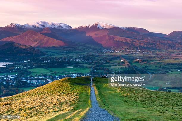 Latrigg sunrise, Cumbrian Mountains. Lake District National park. UK.