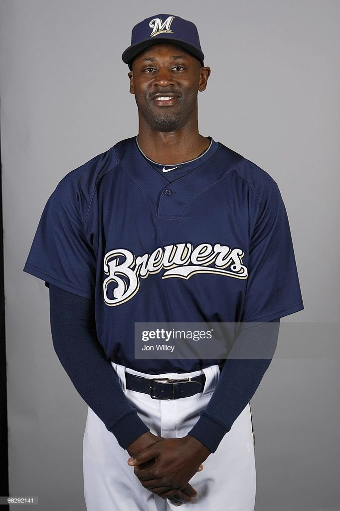 LaTroy Hawkins #32 of the Milwaukee Brewers poses during Photo Day on Monday, March 1, 2010 at Maryvale Baseball Park in Phoenix, Arizona.