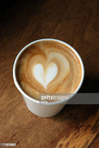 Latte art - heart shape
