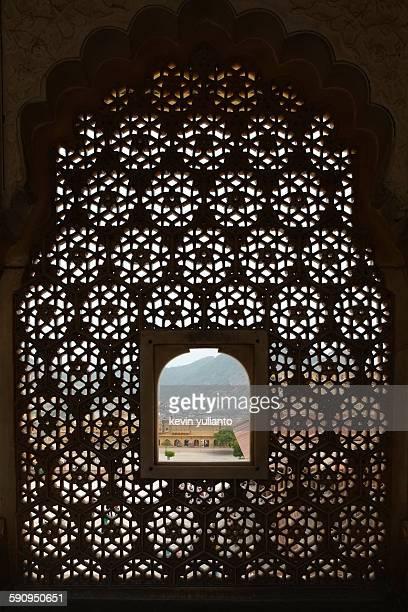 Latticed Window in Amber Fort