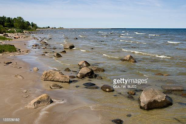 Latvia Courland Region Talsi District Roja Beach on Baltic Sea shore