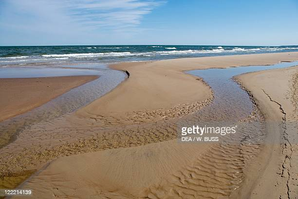 Latvia Courland Region Talsi District Slitere National Park Mikeltornis Beach on Baltic Sea shore