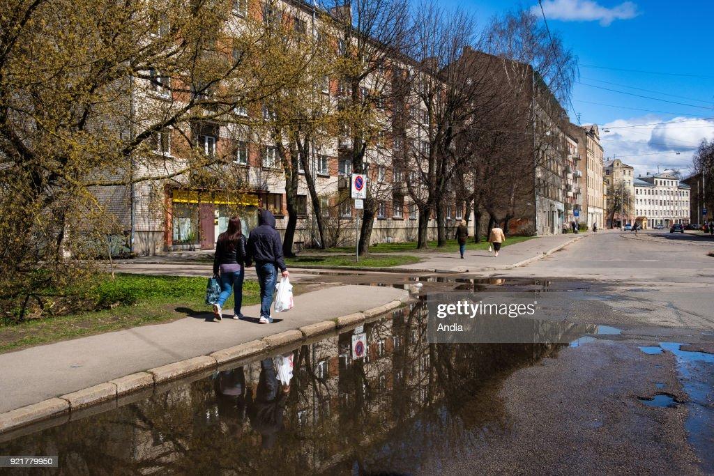 Former ghetto for Jews, Maskavas Forstate. : News Photo