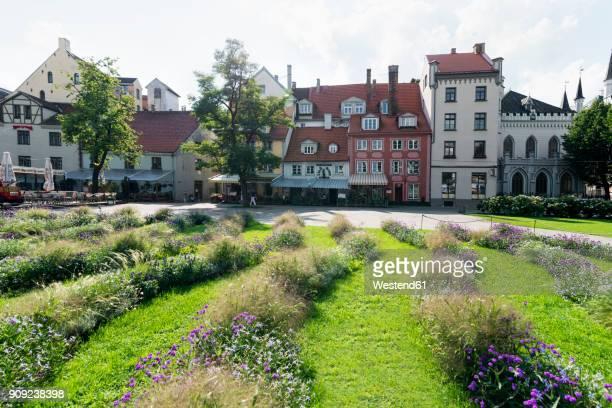 Latvia, Riga, Livu Square