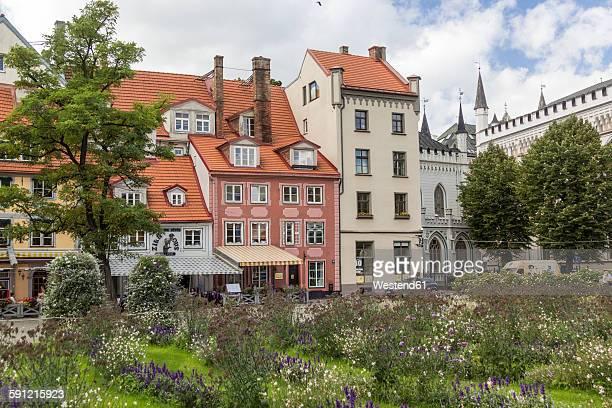 Latvia, Riga, Restaurants at Livu Square