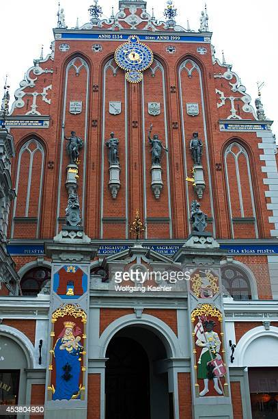 Latvia Riga Town Hall Square House Of BLACkHEADS Detail 1344
