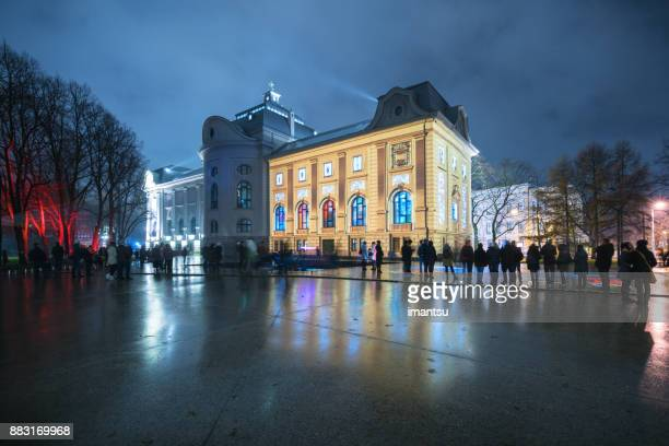 Musée National letton à la fête des lumières