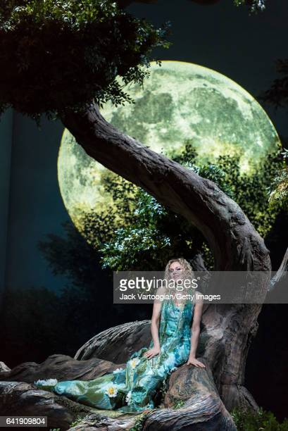 Latvian soprano Kristine Opelais performs during the final dress rehearsal prior to the premiere of the Metropolitan Opera/Mary Zimmerman's...