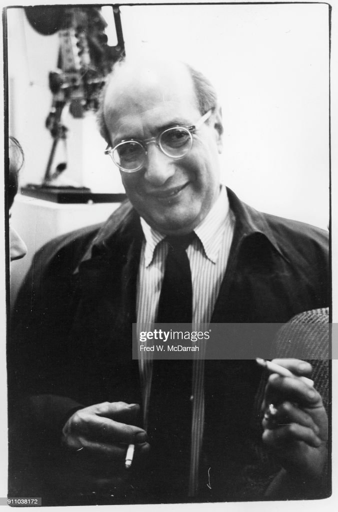Latvian-born American painter Mark Rothko (1903 - 1970) at exhibition of Jean Tinguley's work, New York, New York, November 27, 1962.