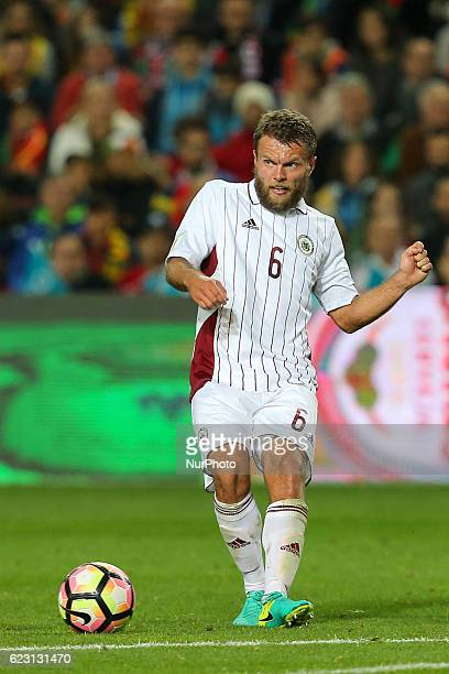 Latvia's defender Vladislav Babovs from Latvia during the 2018 FIFA World Cup Qualifiers matches between Portugal and Latvia in Municipal Algarve...