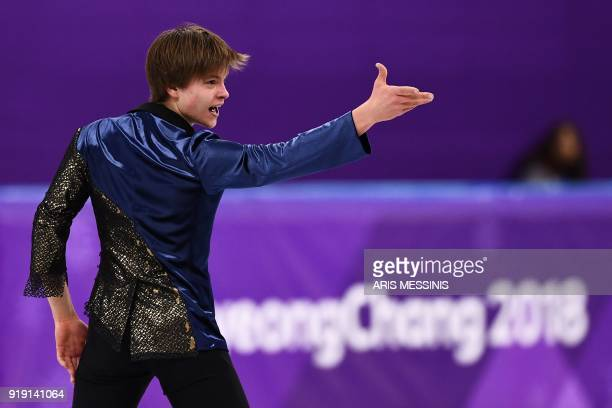 Latvia's Deniss Vasiljevs competes in the men's single skating free skating of the figure skating event during the Pyeongchang 2018 Winter Olympic...
