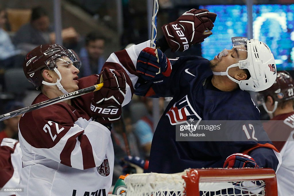 Team USA vs Team Latvia : News Photo