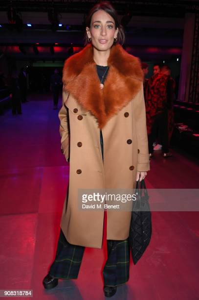 Lauar Jackson wearing Paul Smith attends the Paul Smith AW18 Men's and Women's Show on January 21 2018 in Paris France