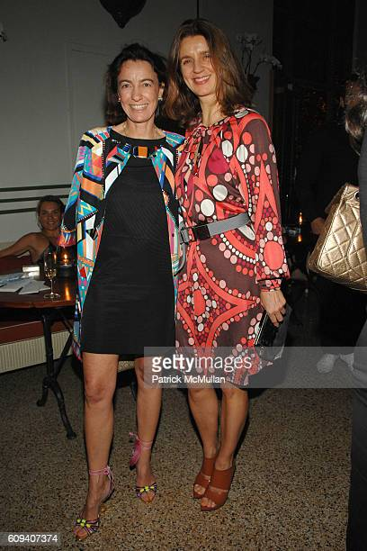 Laudomia Pucci and Karla Otto attend New York Times T MAGAZINE ONLINE Launch Party at The Raleigh on December 4 2007 in Miami Beach FL