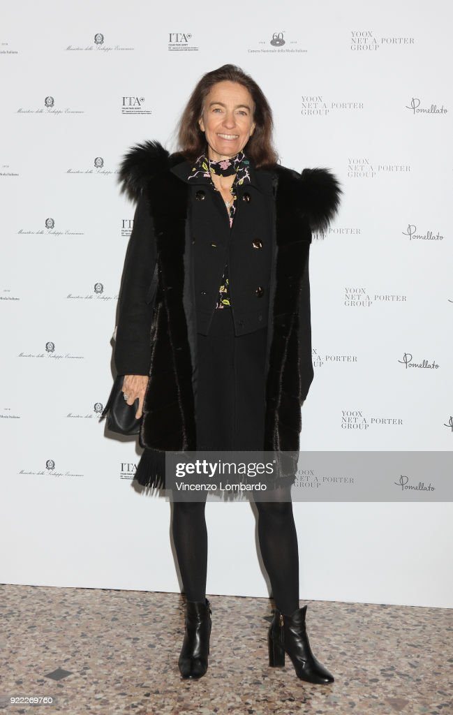 Laudomia Pucci attends 'Italiana. L'Italia Vista Dalla Moda 1971-2001' exhibition preview during Milan Fashion Week Fall/Winter 2018/19 at Palazzo Reale on February 21, 2018 in Milan, Italy.