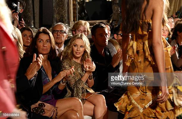 Laudomia Pucci Kylie Minogue and Francesco Vezzoli attend the Emilio Pucci Spring/Summer 2011 Womenswear fashion show during Milan Fashion Week on...