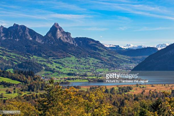 lauerzersee landscape - schwyz stock pictures, royalty-free photos & images