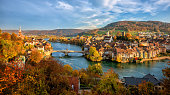 Laufenburg Old town on Rhine river, Switzerland - Germany border