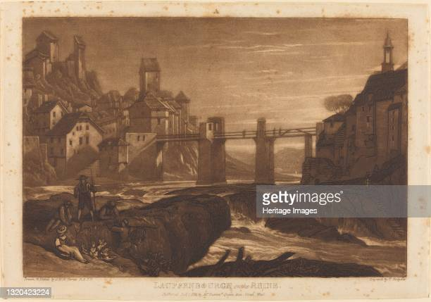 Lauffenbourgh on the Rhine, published 1811. Artist JMW Turner.
