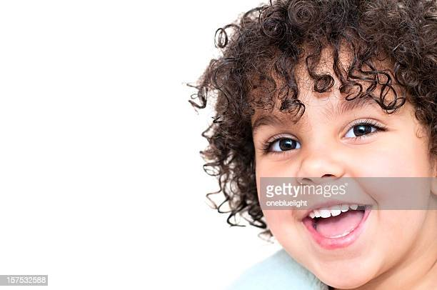 laughing 3 years old child against  white background (serie) - 2 3 years stock pictures, royalty-free photos & images