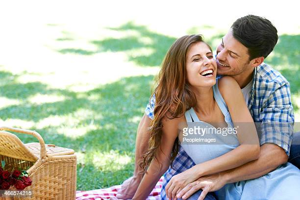 Laughing and loving in the park
